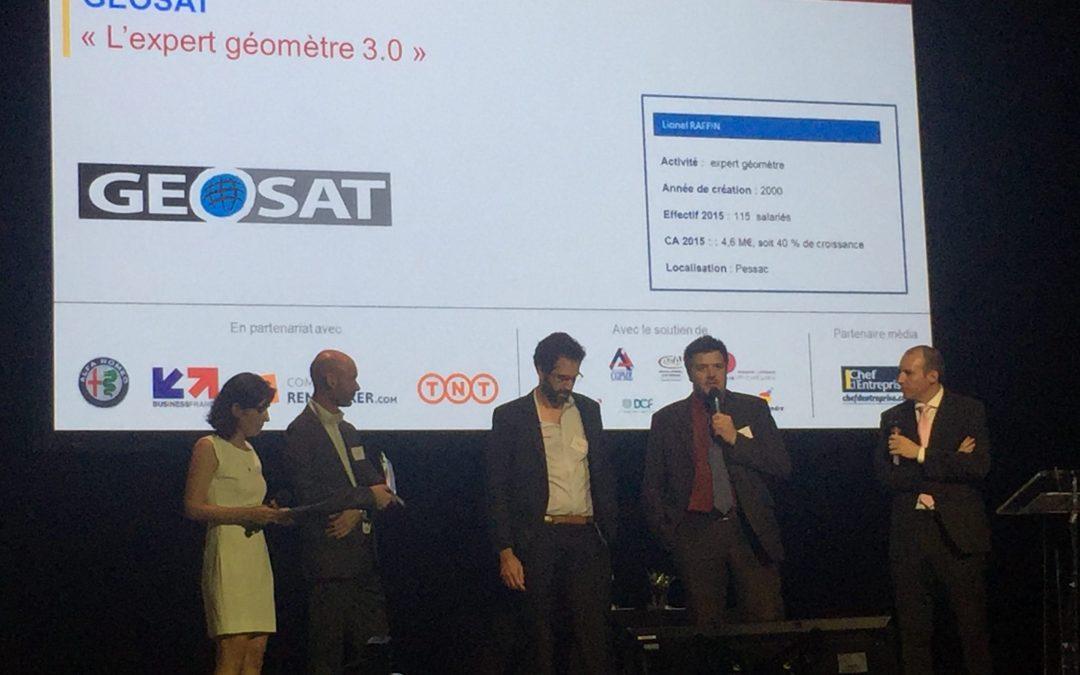 GEOSAT lauréat du trophée Or des Chefs d'Entreprises 2016